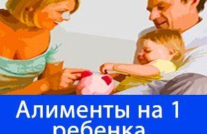алименты на 1 ребенка