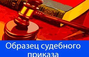 образец судебного приказа