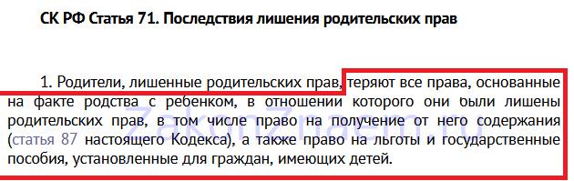 п.1 ст.71 Семейного кодекса РФ