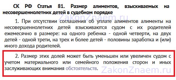 п.2 ст.81 Семейного кодекса РФ